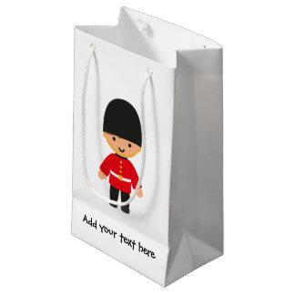 Little British Royal Guard (Brown Hair) Small Gift Bag
