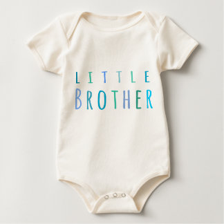 Little Brother in blue Baby Bodysuit