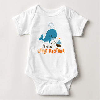Little Brother - Mod Whale Baby Bodysuit