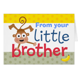 little brother monkey card