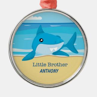 Little Brother Shark On Beach Ornament