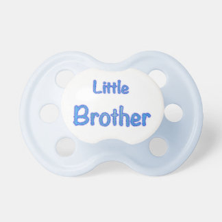 Little Brother Typography Pacifier