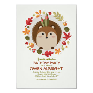 Little Brown Chipmunk Invitation