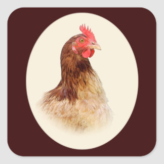 Little Brown Hen Stickers