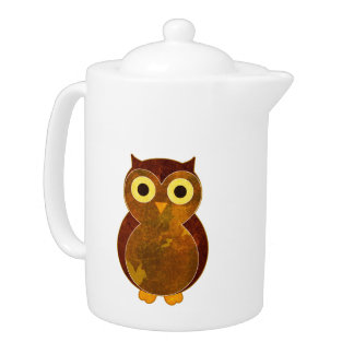Little Brown Owl Teapot