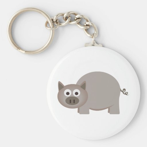 Little Brown Pig Keychains