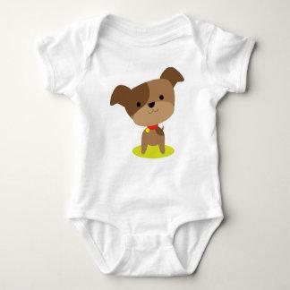 little brown pup baby bodysuit