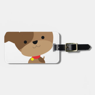 little brown pup luggage tag