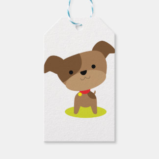 little brown pup pack of gift tags