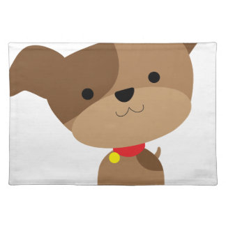 little brown pup placemat