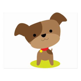 little brown pup postcard