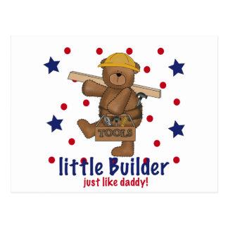 Little Builder Like Daddy Postcard