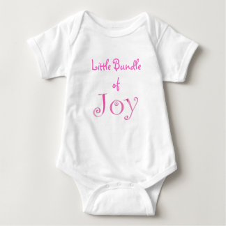 Little Bundle of Joy - Pink Baby Bodysuit