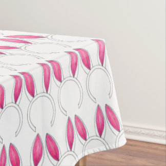 Little Bunny Pink Rabbit Ears Baby Shower Easter Tablecloth
