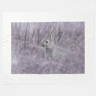 little bunny rabbit fleece blanket