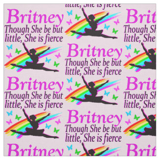 LITTLE BUT FIERCE DANCER PERSONALIZED FABRIC