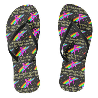 LITTLE BUT FIERCE GYMNASTICS DESIGN FLIP FLOPS