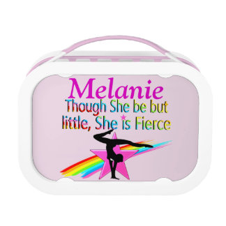 LITTLE BUT FIERCE PERSONALIZED GYMNAST LUNCH BOX