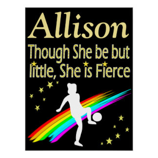 LITTLE BUT FIERCE PERSONALIZED SOCCER POSTER
