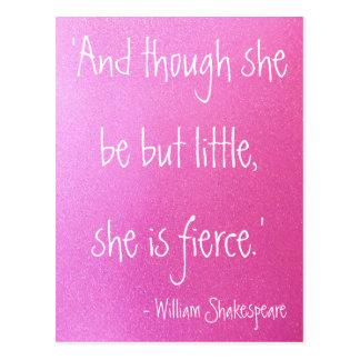 Little but Fierce Shakespeare Quote Postcard