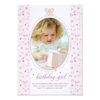 Little Butterfly Photo Invitation