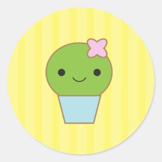 Little Cactus Round Sticker