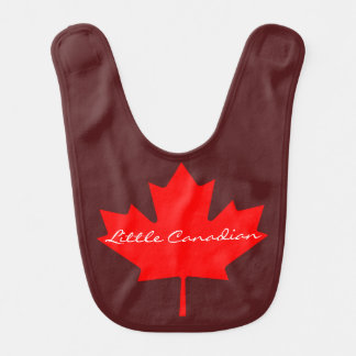 Little Canadian Canada red maple leaf    baby bib
