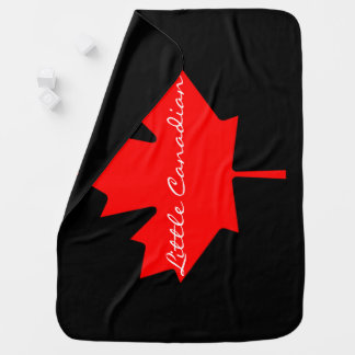 Little Canadian Canada red maple leaf   Blanket Receiving Blanket