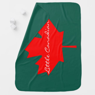 Little Canadian Canada red maple leaf   Blanket Receiving Blankets