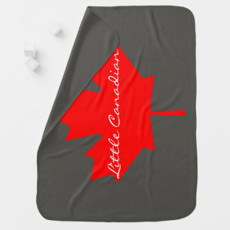 Little Canadian Canada red maple leaf   Blanket Swaddle Blankets