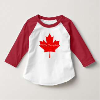 Little Canadian red maple leaf Canada shirt