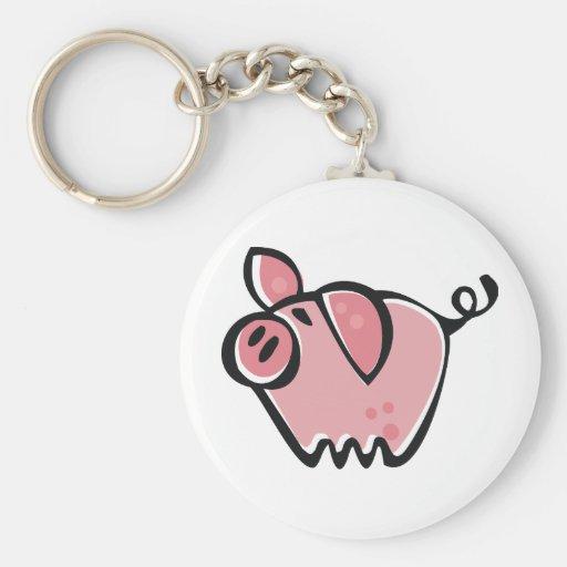 Little cartoon Pink Piggie Keychains