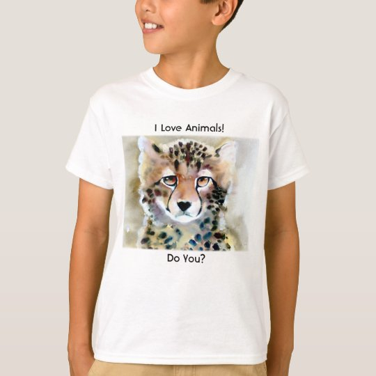 """Little Cheetah"" Watercolor Print T-Shirt"