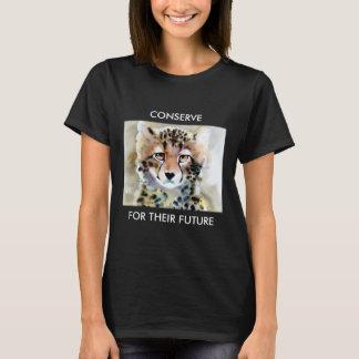 """Little Cheetah"" Watercolor Print T-Shirt"