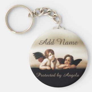 Little Cherub Angels Basic Round Button Keychain