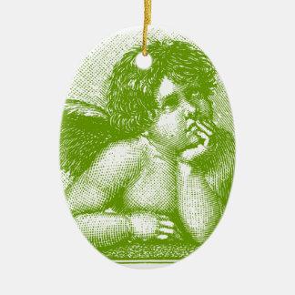 Little Cherub Customizable color Ceramic Ornament