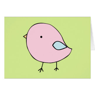 Little chick blank greeting card