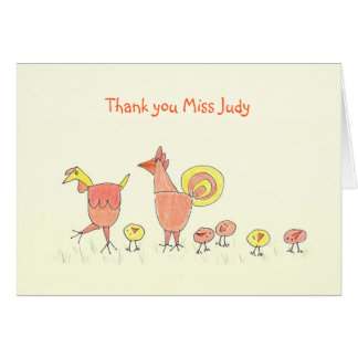 Little Chicks, Child Care Worker Thank You Card
