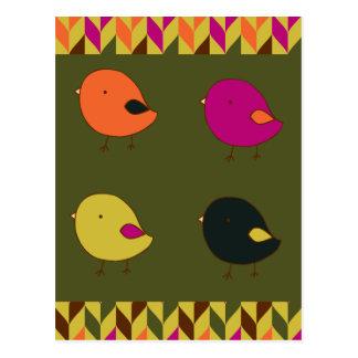 Little chicks postcard