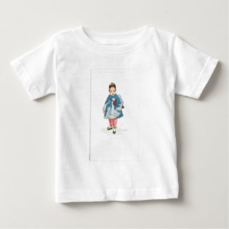 Little Chinese Girl Holding Umbrella Baby T-Shirt