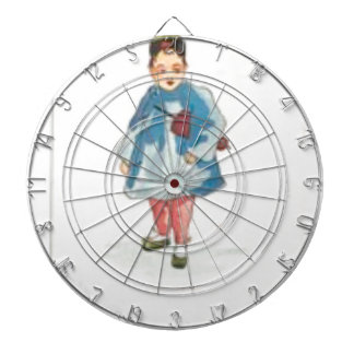 Little Chinese Girl Holding Umbrella Dartboard