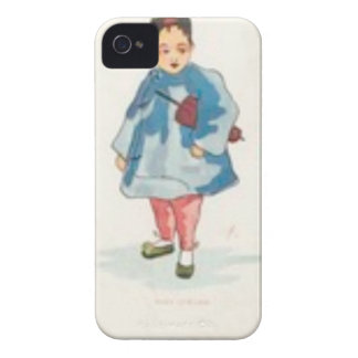 Little Chinese Girl Holding Umbrella iPhone 4 Covers