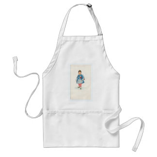 Little Chinese Girl Holding Umbrella Standard Apron