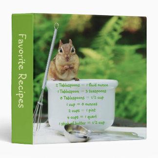 Little Chipmunk Measurement Equivalents Binder