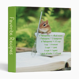 Little Chipmunk Measurement Equivalents Binder