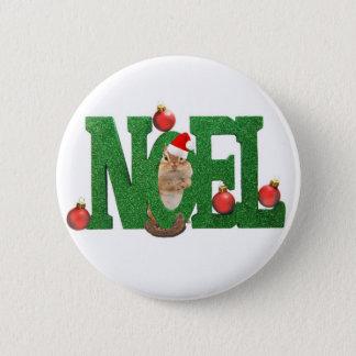 little chipmunk Noel 2 Inch Round Button