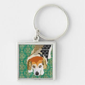 Little Chloe Beagle Art Keychain