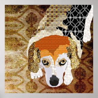 Little Chloe Beagle Art Poster