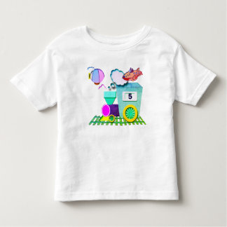 Little choo choo birthday toddler t-shirt