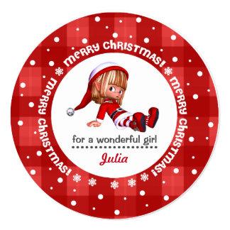 Little Christmas Elf Doll Custom Christmas Cards